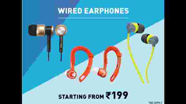 Wired Earphones Starting From Rs. 199
