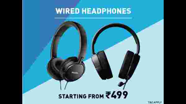 Wired Headphones Starting From Rs. 499