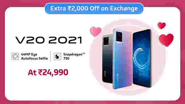 11% Off On Vivo V20 2021