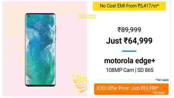 27% Off On Motorola Edge+