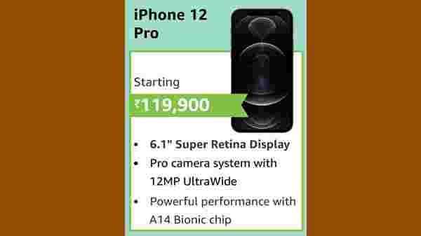New Apple iPhone 12 Pro (EMI starts at Rs. 5,644. No Cost EMI available)