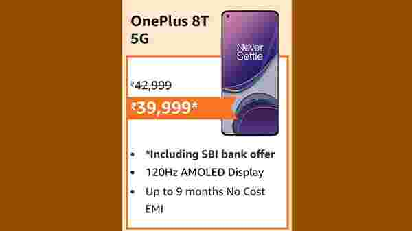 OnePlus 8T 5G (EMI starts at Rs. 2,024. No Cost EMI available)