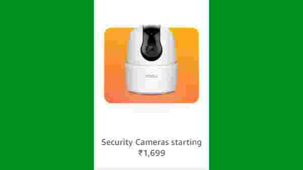 Security Cameras Starting From Rs. 1,699