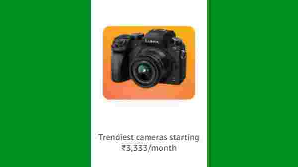 Discount Offer On Trendy Cameras Starting From Rs. 3,333/month