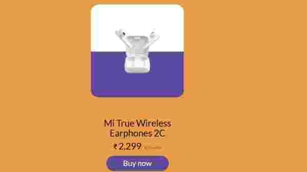 Mi ट्रू वायरलेस इयरफ़ोन 2C