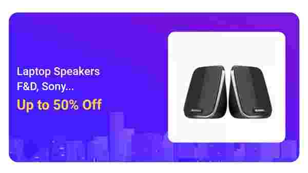 Up To 50% Off On Laptop Speakers