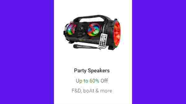 Up To 60% Off On Party Speakers