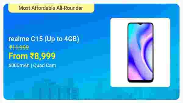Realme C15 Qualcomm Edition (Power Silver, 64 GB)  (4 GB RAM)