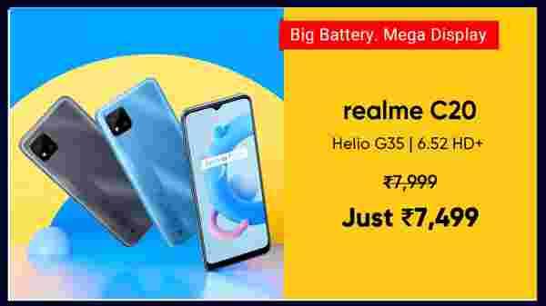 Realme C20 (Cool Grey, 32 GB)  (2 GB RAM)