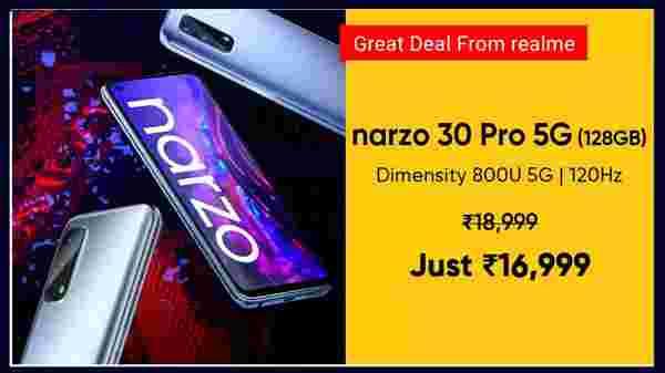 Realme Narzo 30 Pro 5G (Blade Silver, 64 GB)  (6 GB RAM)