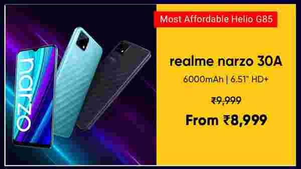 Realme Narzo 30A (Laser Black, 32 GB)  (3 GB RAM)