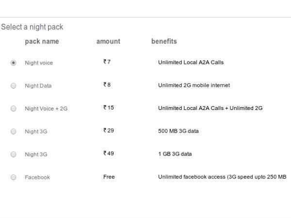Airtel Launches Night Store for Unlimited On-Net Local