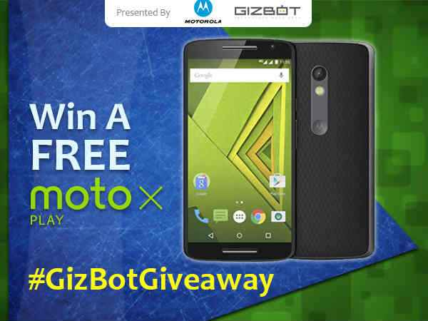 GizBot Giveaway: Win A Moto X Play For Free - Gizbot News