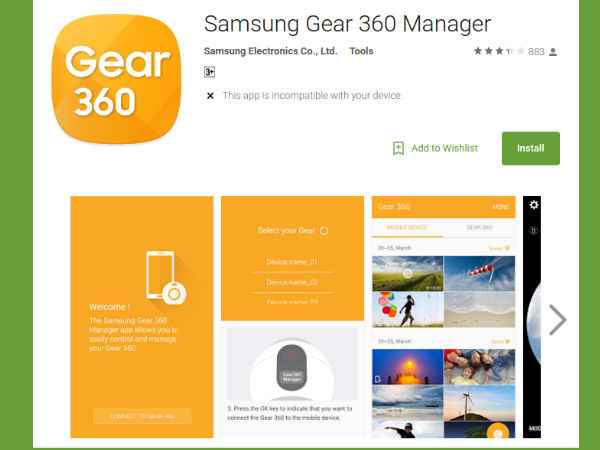 Samsung launches Samsung Gear 360 Manager app - Gizbot News