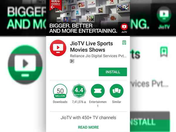 JIO TV app is now the ninth most downloaded app on Google