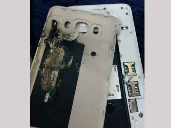 Samsung Galaxy J7 (2016) explodes in the hands of a 4-year