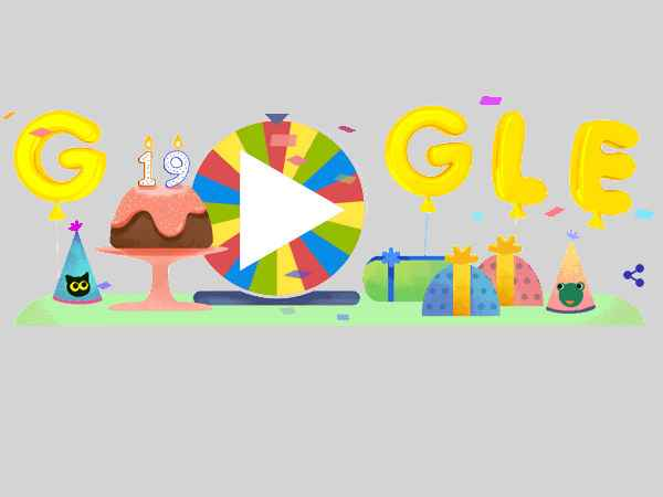 Google Is Now 19 Years Old Celebrates Its Birthday With 19 Doodles Games From The Past Gizbot News