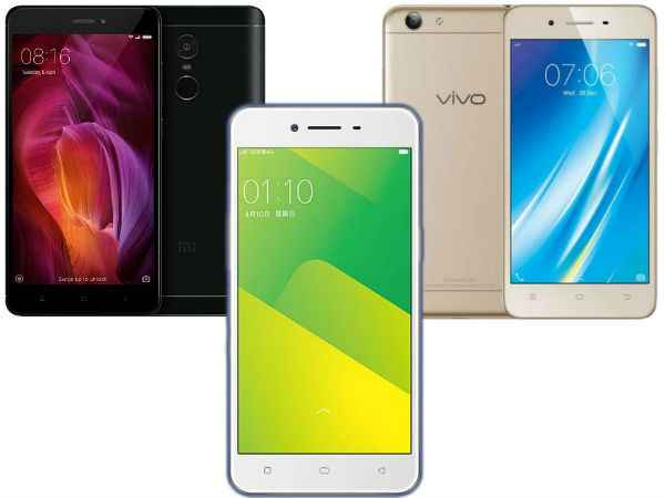 India's best-selling smartphones from Oppo, Xiaomi, Samsung