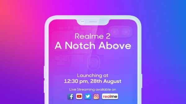 Realme 2 will have a rear-facing fingerprint sensor with a