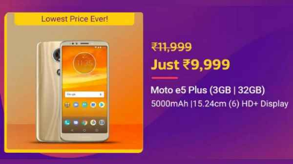 Flipkart Big Billion Day sale: Upto 40% Discount on Motorola