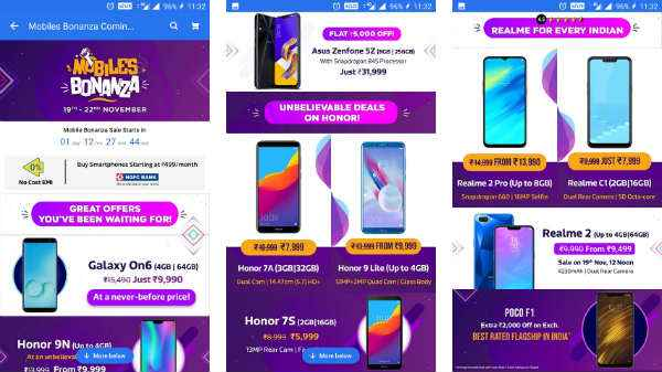 Flipkart Mobile Bonanza Sale (Nov 19th to 22nd): Get