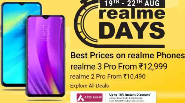 Flipkart Realme Days Sale: Offers on Realme 3 Pro, Realme X