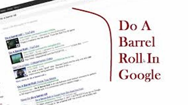 Do a barrel roll while doing the search