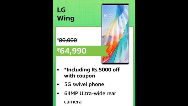 14% Off On LG Wing (Illusion Sky, 128 GB) (8 GB RAM)