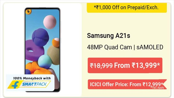 16% Off On Samsung A21s