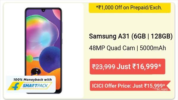 25% Off On Samsung Galaxy A31