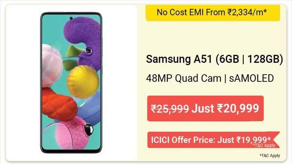 29% Off On Samsung Galaxy A51