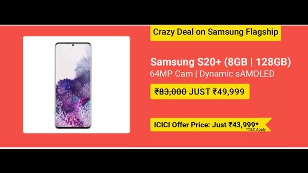 39% Off On Samsung Galaxy S20+