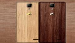 Micromax Launch Canvas 5 Lite Special Edition with Walnut Wood Finish