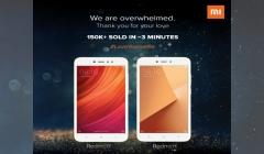 Over 150,000 units of Xiaomi Redmi Y1, Y1 Lite sold out in 3 minutes