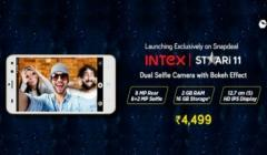 Intex Staari 11 launched with dual selfie cameras for Rs. 4,499