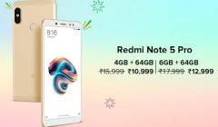 Xiaomi Redmi Note 5 Pro is available starting from Rs. 9,990