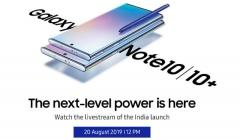 Samsung Galaxy Note 10, Note 10+ India Launch: Watch The Live Stream Here